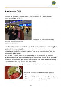 Deckblatt Reisebericht 2014-III